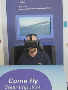 Virtual Reality Headset - Flugsimulation Solar Impulse