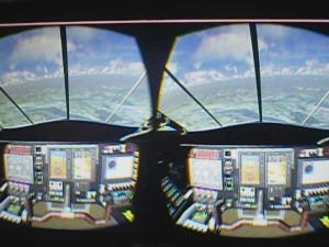 Cockpitsicht Solar Impulse